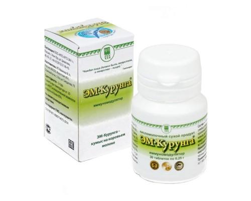 Продукт кисломолочный «ЭМ-Курунга», таблетки, 30 шт.