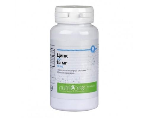 БАД Цинк 15 мг (NutriCare Int.), таблетки 60шт