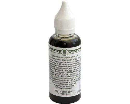 Эликсир зубной «Альфион» с экстрактом ламинарии, осиновой коры и хлорофиллом, 50мл