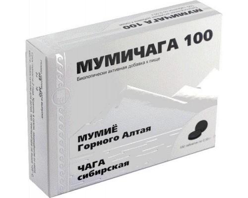 Мумичага 100, таблетки, 100 шт