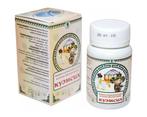 Продукт кисломолочный сухой КуЭМсил, таблетки, 60 шт