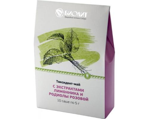 Токсидонт-май с экстрактами лимонника и родиолы розовой, 10 саше по 5 г