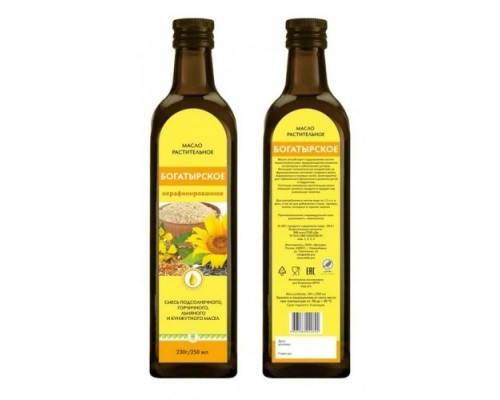 Масло Богатырское, 250 мл, стеклянная бутылочка