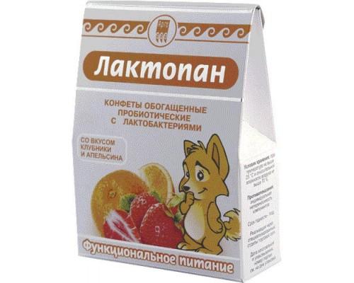 Конфеты обогащенные пробиотические Лактопан, 70 г